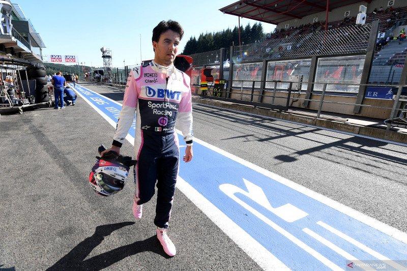Perez tunggu hasil tes COVID-19 untuk bisa balapan di Silverstone