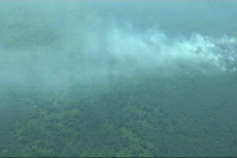Pantauan udara, masih ada kebakaran di Musi Banyuasin