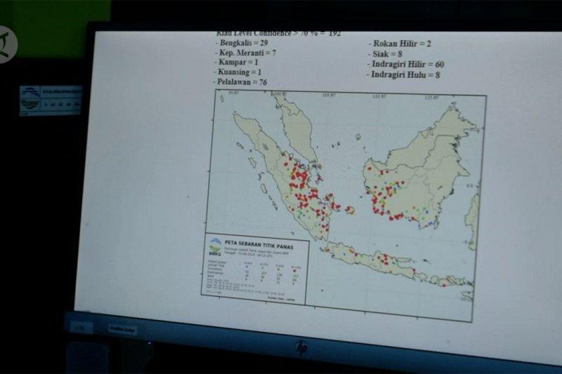 Riau penyumbang titik panas terbanyak di Sumatera
