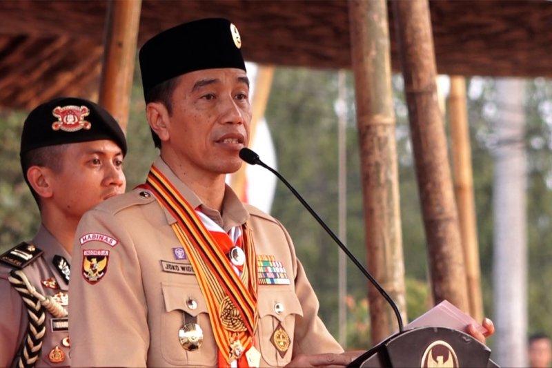 Presiden sebut Pramuka mampu tangani persoalan terkini