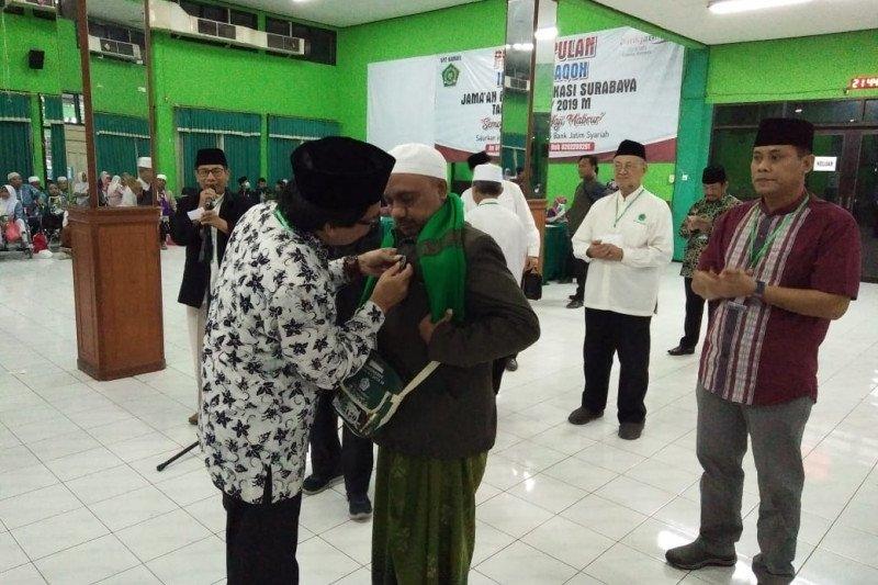 Wabup Jember sambut kedatangan jamaah haji di Asrama Haji Sukolilo