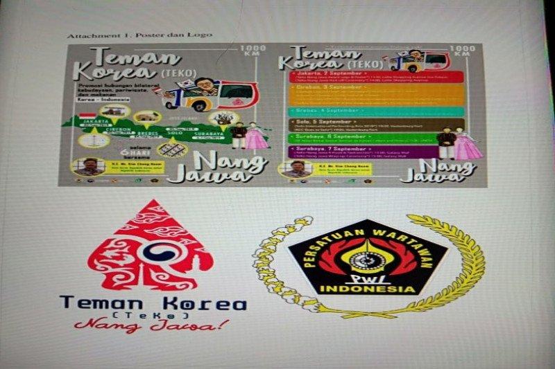 Dubes Korea-PWI  gelar TeKo Nang Jawa naik bus