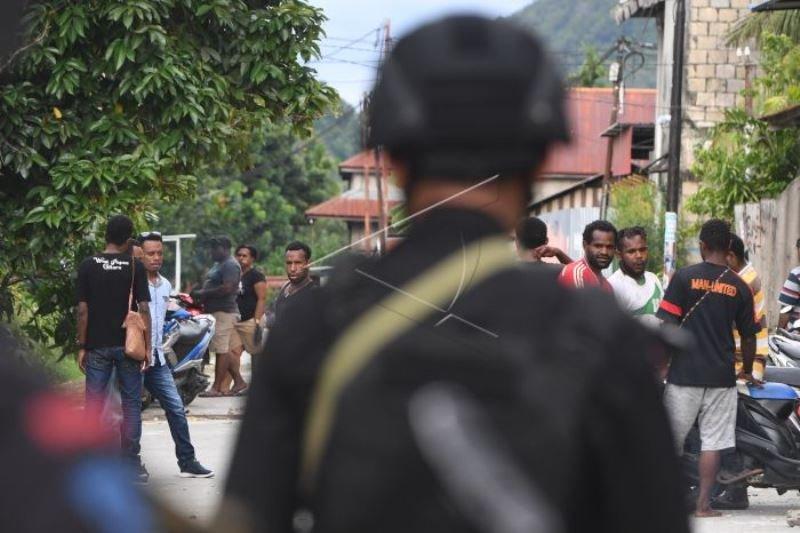 Pengamanan pascaunjuk rasa anarkis di Jayapura