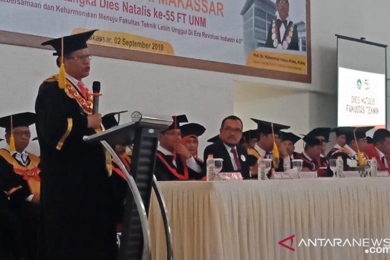 Rektor UNM dorong inovasi pendidikan pada dies natalis ke-55 FT