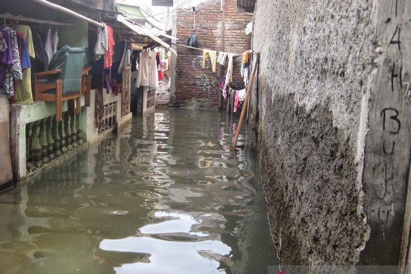 Permukiman penduduk  Baturaja OKU dilanda banjir
