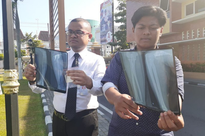 Suporter PSIM melaporkan kasus penembakan ke Polda DIY
