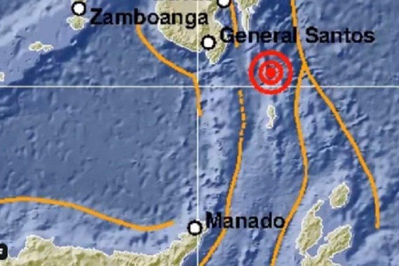 Gempa dengan magnitudo 5,7 guncang tenggara Melonguane-Sulut
