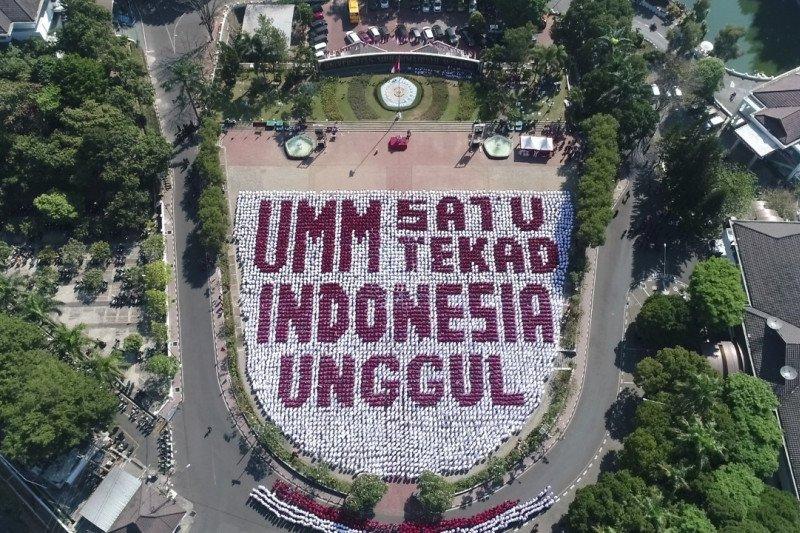 Atraksi delapan penerjun TNI AU buka Pesmaba UMM