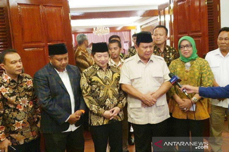 Disambangi Pimpinan PPP, Prabowo ingin Gerindra-PPP sinergi di Jawa Barat