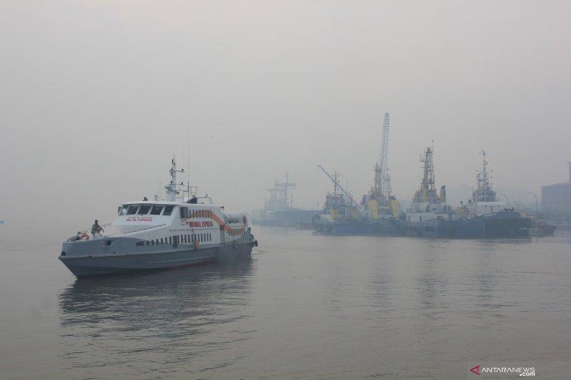 Karhutla Riau - KSOP Dumai Perpanjang Masa Kewaspadaan Asap Karhutla, begini penjelasannya