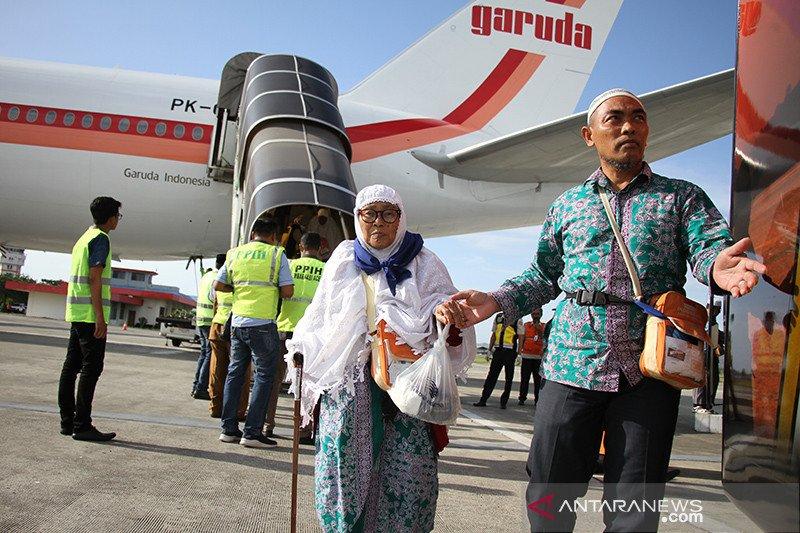 392 jamaah haji debarkasi Aceh tiba di Tanah Air