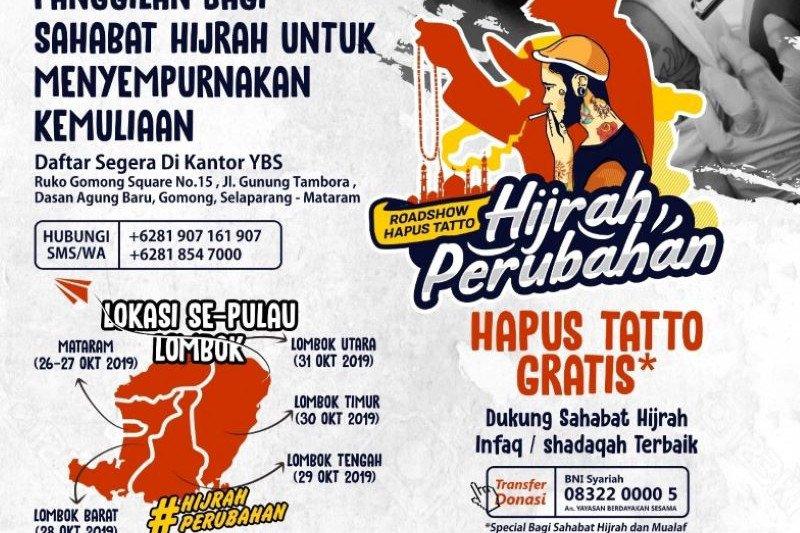 """Menjadi viral kegiatan hapus tato gratis digelar di """"Pulau Seribu Masjid"""" Lombok"""