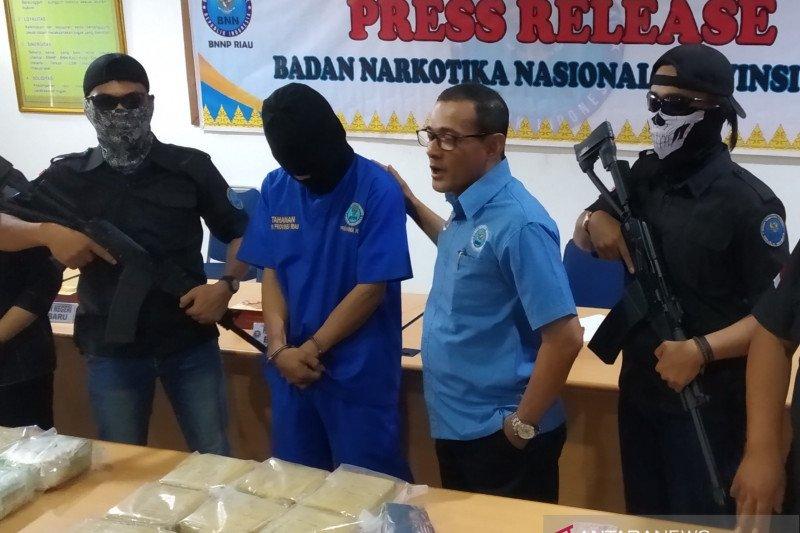 Pengiriman sabu 30 Kg sabu asal Malaysia berhasil digagalkan