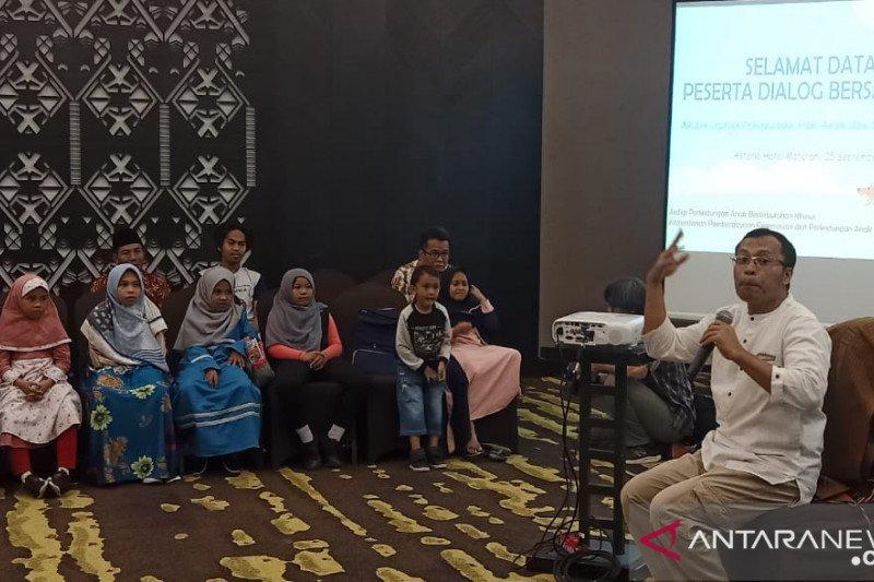 Kementerian PPPA berdialog dan hibur anak-anak Ahmadiyah NTB