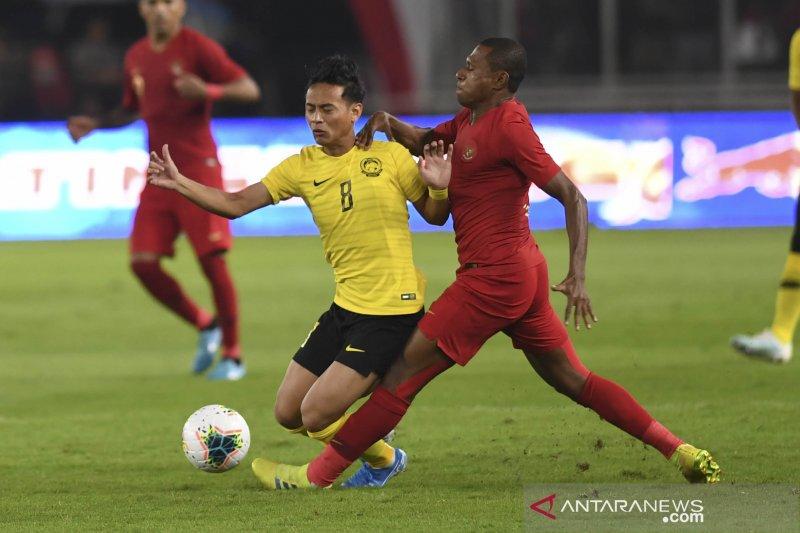 Golll...Indonesia unggul sementara 1-0 atas Malaysia berkat gol Beto