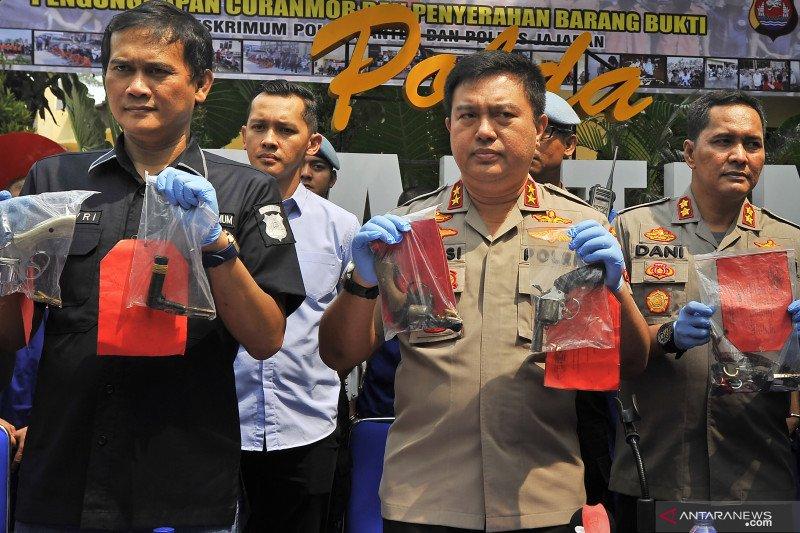 Ekspos curanmor di Polda Banten