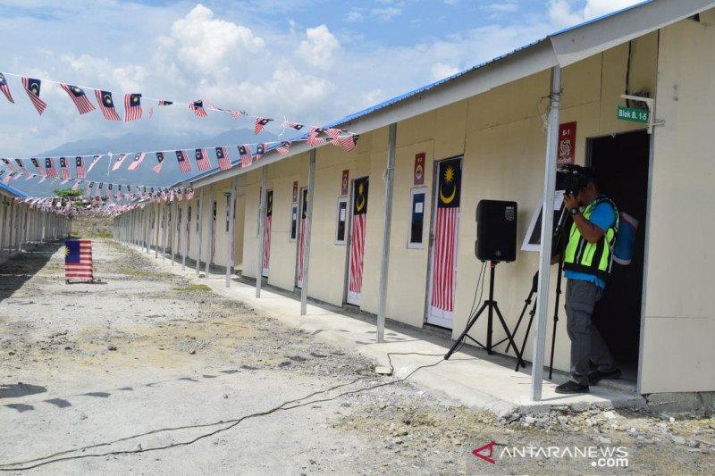 Pendonor asal Malaysia serahkan 55 hunian sementara untuk korban bencana Palu