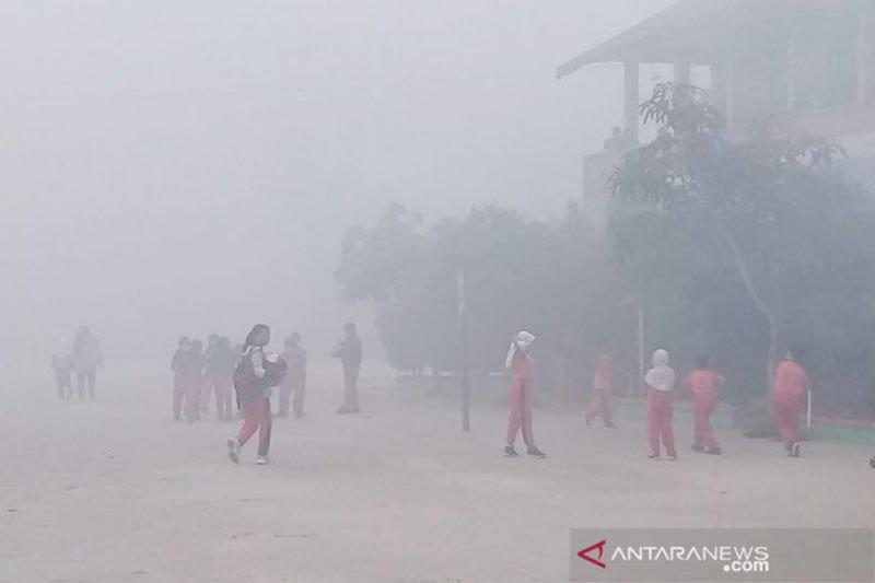 Kabut asap di Sampit semakin parah