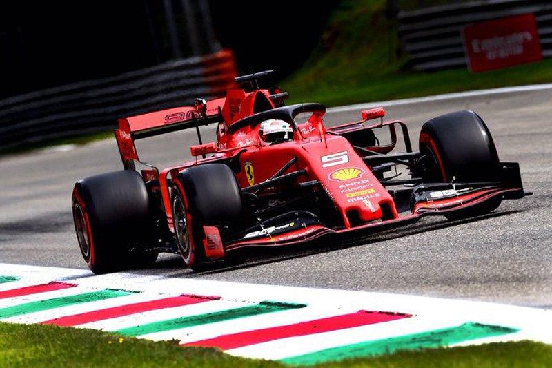 Sebastian Vettel catatkan waktu tercepat pada sesi latihan bebas ketiga di Monza