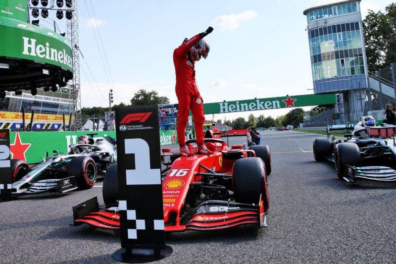 Charles Leclerc amankan 'pole position' di balap F1 GP Italia