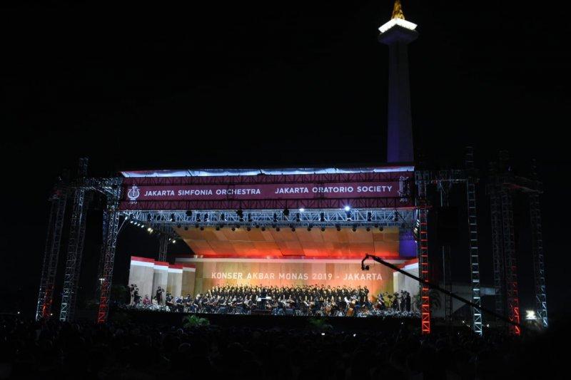 Konser akbar musik klasik di Monas dipadati 13.109 penonton