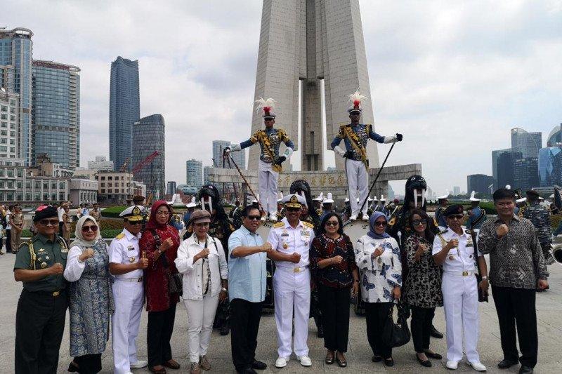 KRI Bima Suci tiba di Pelabuhan Wusong Shanghai