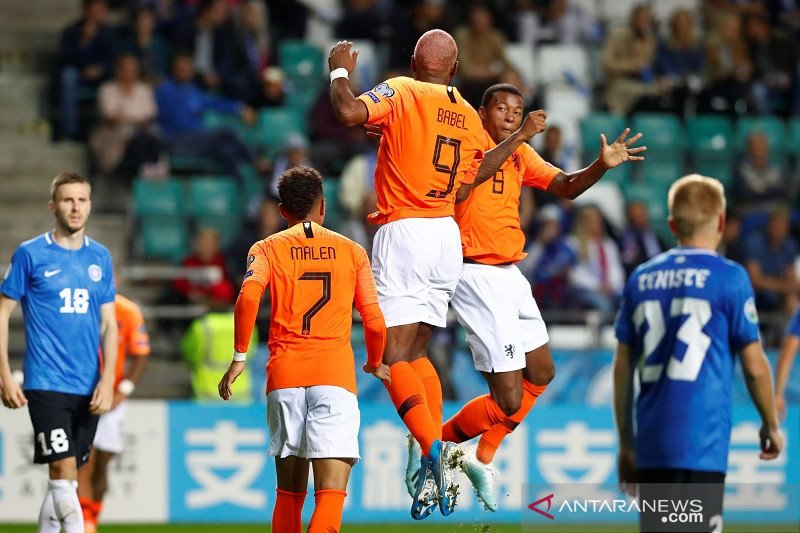 Belanda hancurkan tuan rumah Estonia 4-0