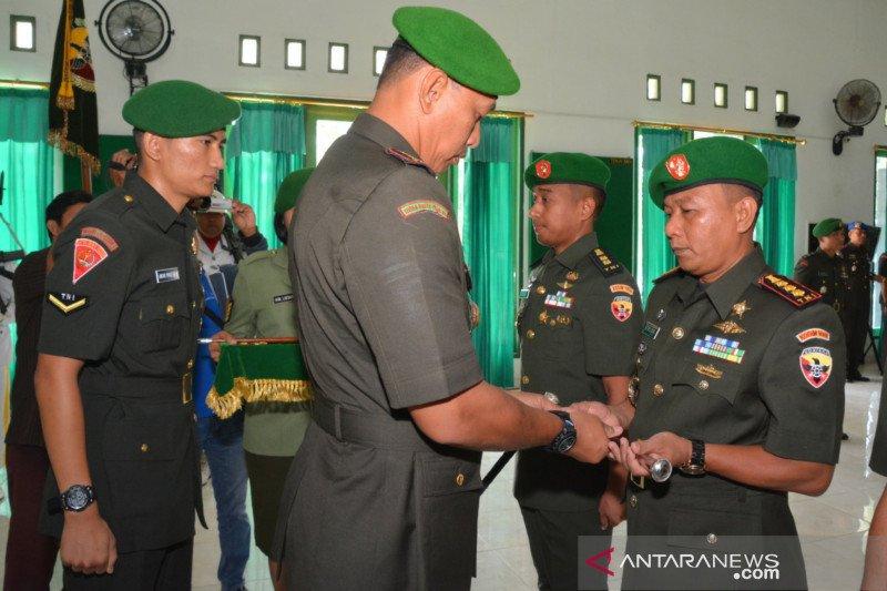 Danrem 162/WB memimpin serah terima jabatan Dandim Lombok Barat dan Dompu
