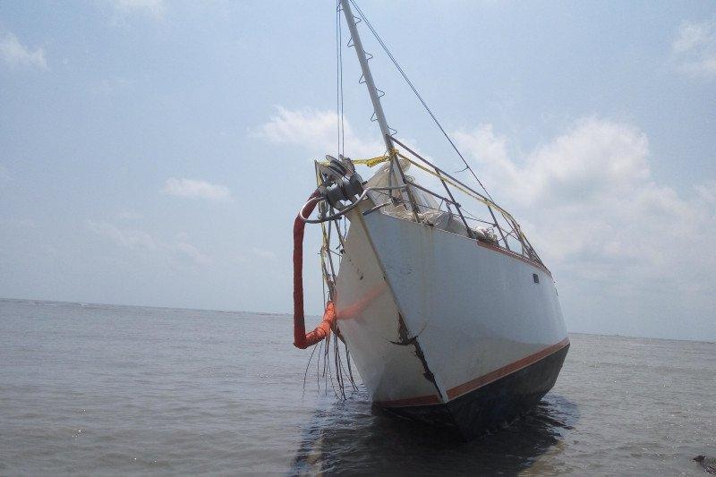 Sebuah kapal tidak berawak ditemukan di perairan Lampung Timur