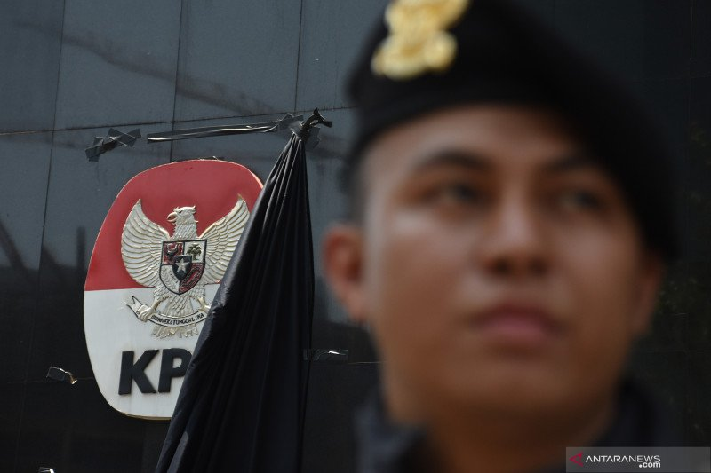 Polisi minta kain hitam yang tutupi logo KPK di buka