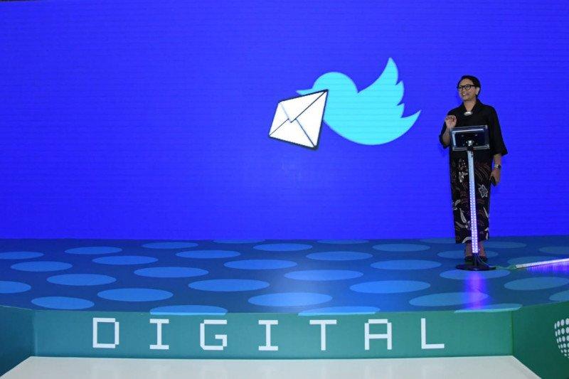 Menlu RI dorong penggunaan diplomasi digital untuk pesan damai