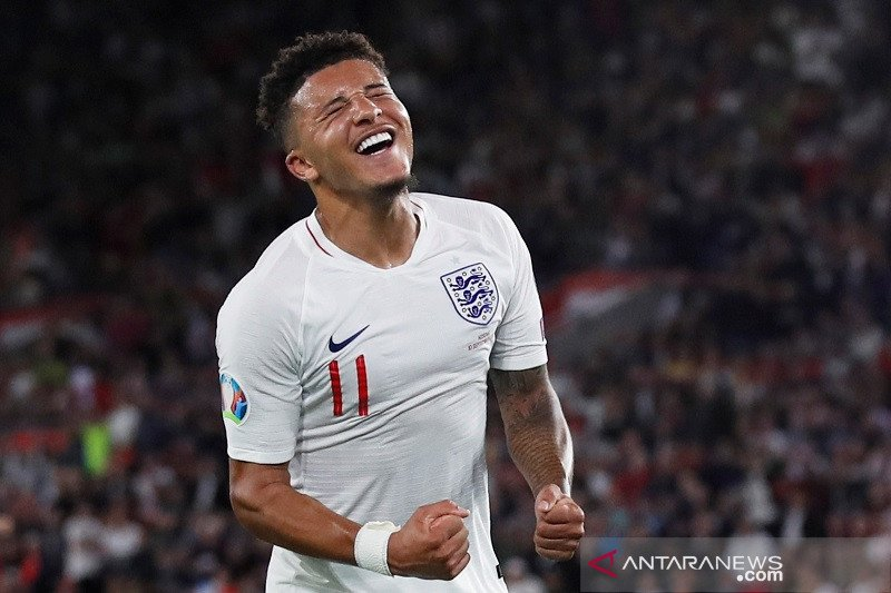 Jadon Sancho sumbang dua gol saat Inggris atasi Kosovo 5-3
