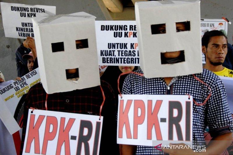 Aksi dukung revisi UU KPK