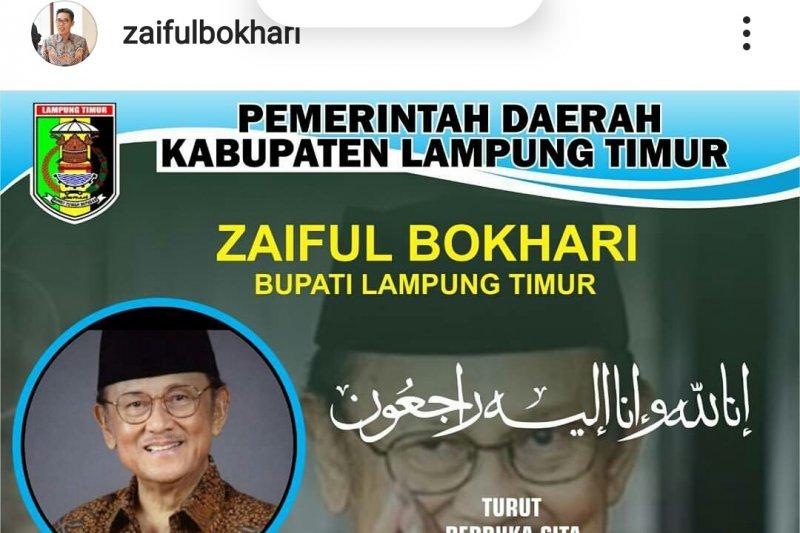 Bupati Lampung Timur sampaikan bela sungkawa wafatnya Habibie