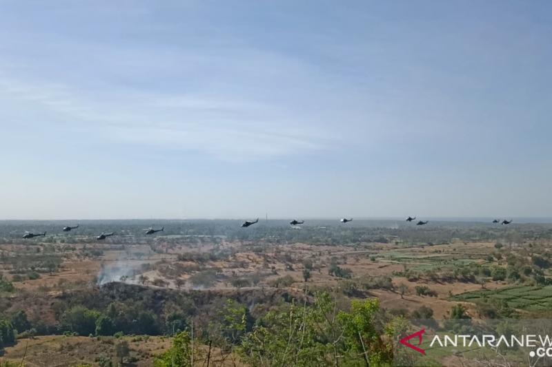 Drone CH4 ditampilkan dalam latgab TNI