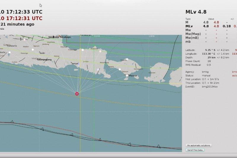Gempa bumi tektonik 4,8 SR getarkan Jember