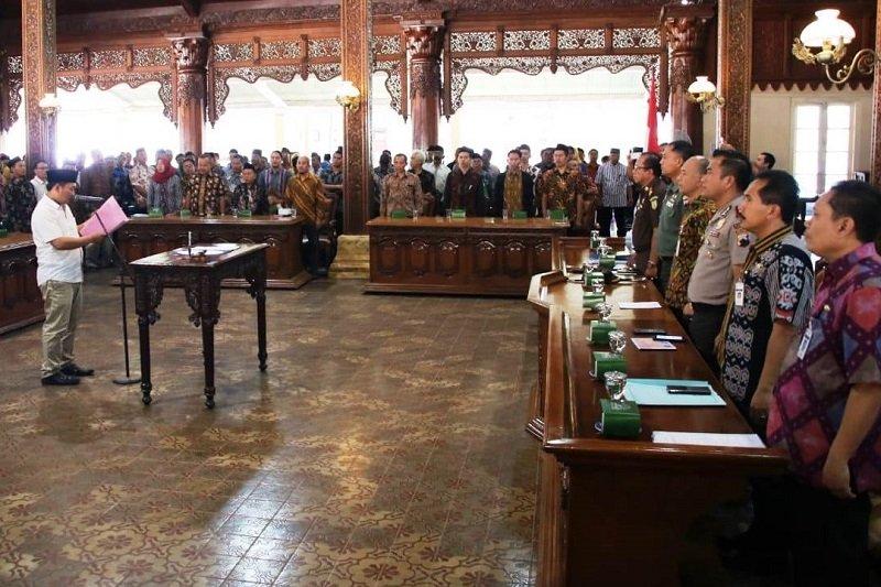 378 calon kades di Jepara ikrarkan pilkades damai