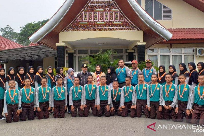 50 utusan pramuka Kwarcab 0303 Sijunjung ke Batusangkar
