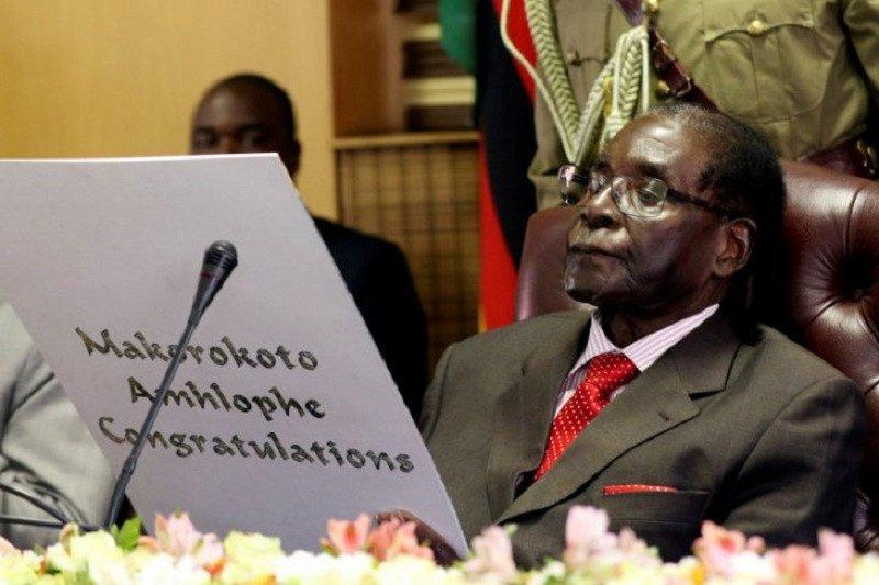Jenazah mantan Presiden Zimbabwe Robert Mugabe diterbangkan dari Singapura untuk pemakaman