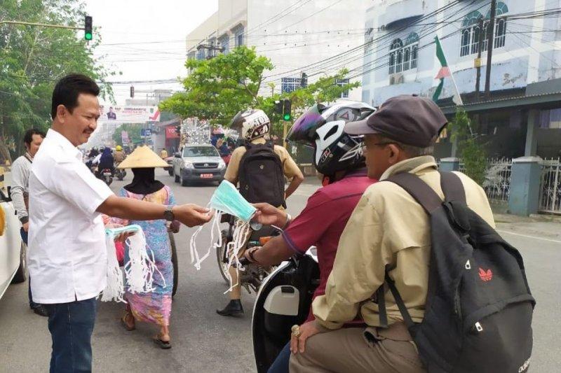 Karhutla Riau - Permintaan masker meningkat, banyak toko kehabisan stok