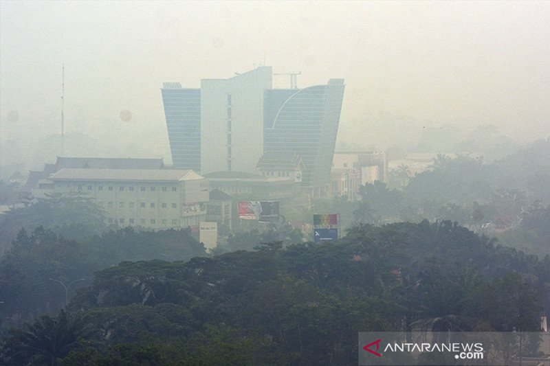 Kabut asap makin pekat, kualitas udara di Riau sudah berbahaya