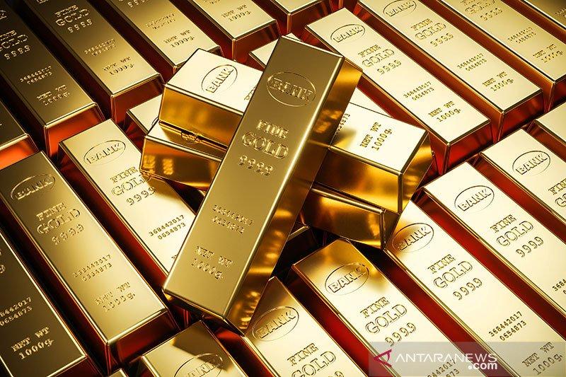 Harga emas berjangka turun, pasar ekuitas berbalik menguat