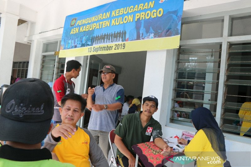 Dinkes Kulon Progo menyelenggarakan pengukuran kesehatan ASN