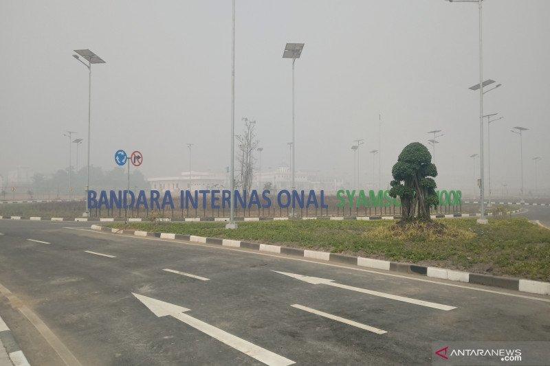 Kabut asap, jarak pandang Bandara Syamsudin Noor hanya 50 meter