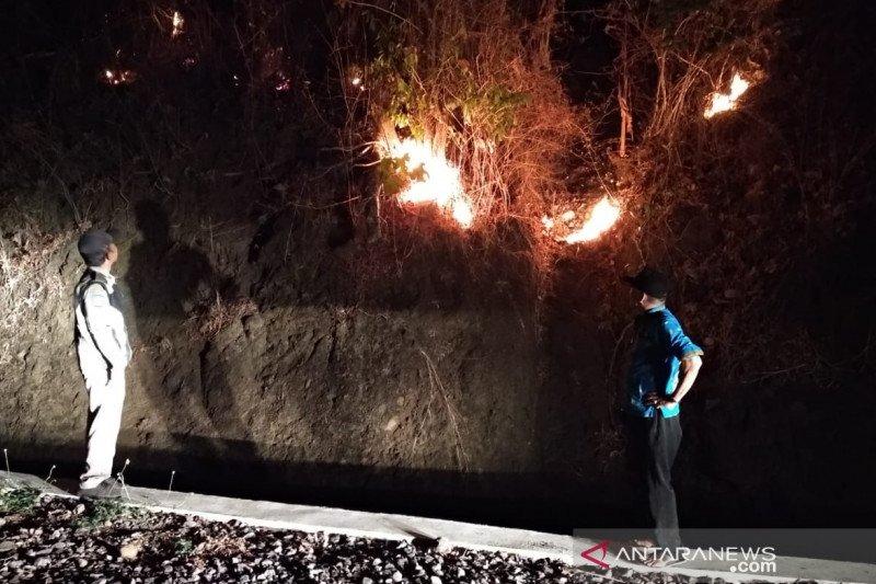 Ratusan hektare lahan perkebunan di Kampung Legok Sukabumi terbakar