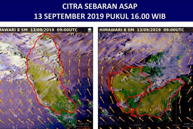 Angin dari Selatan sebabkan asap karhutla Riau sangat tebal