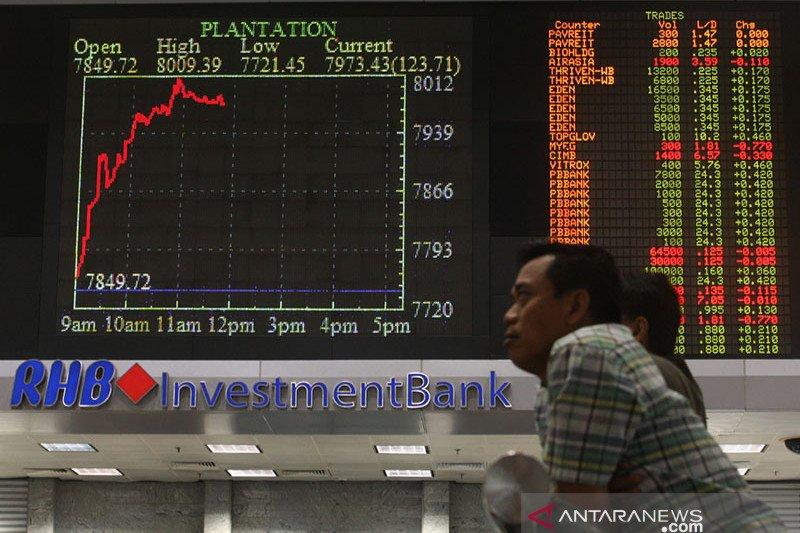 Pasar saham Malaysia ditutup menguat, indeks KLCI naik 0,81 persen