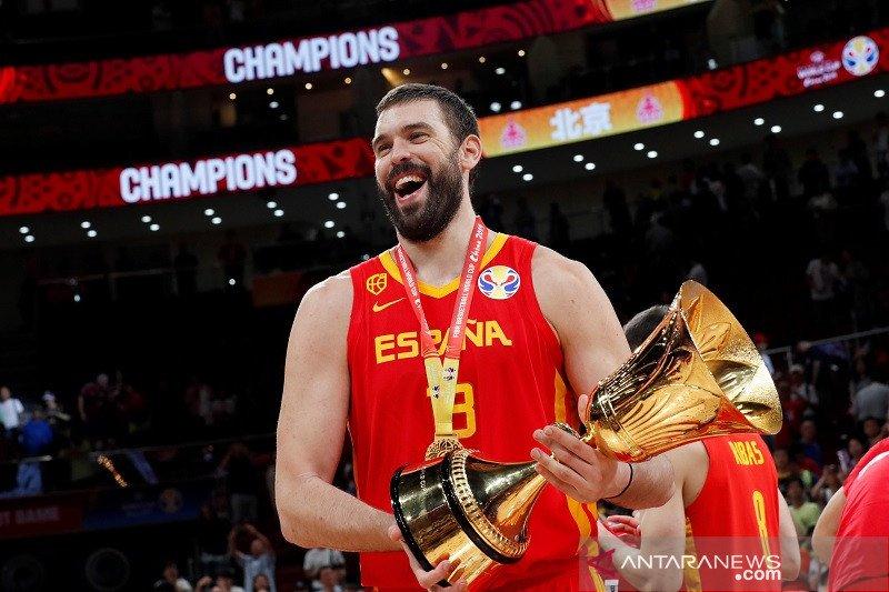 Gasol pemain kedua kawinkan gelar juara NBA dan Piala Dunia FIBA
