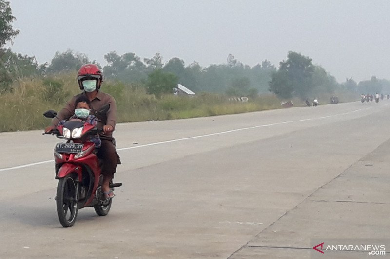Kabut asap Kaltara kiriman dari karhutla 4 provinsi di Kalimantan