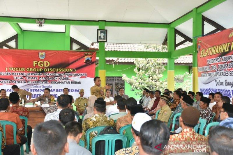 Belasan desa Batang deklarasikan pilkades tanpa praktik politik uang